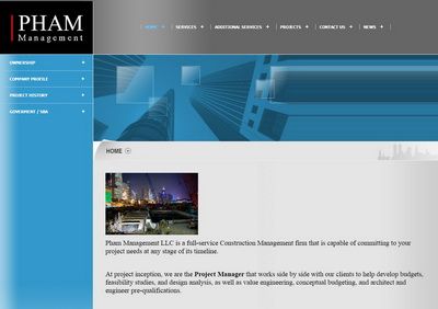 old website before the redesign